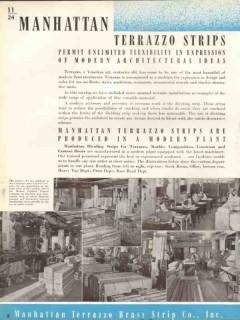 Manhattan Terrazzo Brass Strip Company 1938 Vintage Catalog Tile Floor