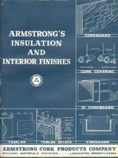 Armstrong Cork Products Company 1938 Vintage Catalog Insulation Finish