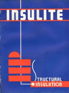 Insulite Corp 1938 Vintage Catalog Insulation Thermal Structural Board