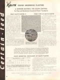 Certain-Teed Products Corp 1938 Vintage Catalog Insulation Sound