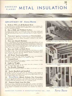 American Flange Mfg Company 1938 Vintage Catalog Insulation Home Metal