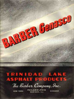 Barber Company 1938 Vintage Catalog Roofing Trinidad Lake Asphalt