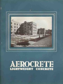 Aerocrete Corp Of America 1938 Vintage Catalog Concrete Lightweight