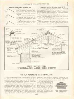 American 3-Way Luxfer Prism Company 1938 Vintage Catalog Roof Skylight