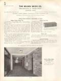 Belden Brick Company 1938 Vintage Catalog Vitritex Facing Tile Face