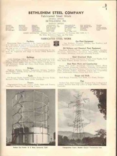 Bethlehem Steel Company 1938 Vintage Catalog Fabricated Structural