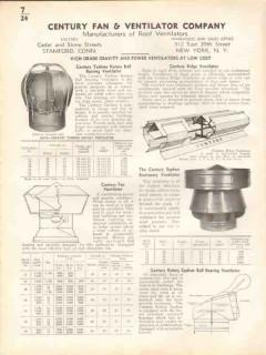 Century Fan Ventilator Company 1938 Vintage Catalog Gravity Power