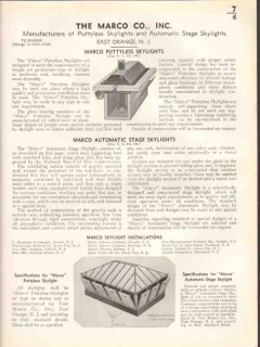 Marco Company 1938 Vintage Catalog Roofing Skylight Automatic Stage