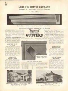 Long Fir Gutter Company 1938 Vintage Catalog Roofing OG Shadowline