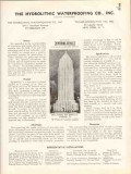Hydrolithic Waterproofing Company 1938 Vintage Catalog Cement Coating