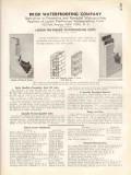 Brisk Waterproofing Company 1938 Vintage Catalog Wall Larson Preformed