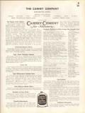 Carney Company 1938 Vintage Catalog Cement Masonry Mortar Mix