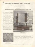 Conkling Armstrong Terra Cotta Company 1938 Vintage Catalog Tile Wall