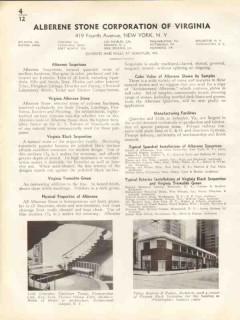 Alberene Stone Corp 1938 Vintage Catalog Soapstone Black Serpentine