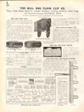 Bull Dog Floor Clip Company 1938 Vintage Catalog Wall Buck Anchor