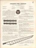Concrete Steel Company 1938 Vintage Catalog Reinforcement Bars Joists
