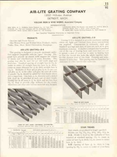 Air-Lite Grating Company 1938 Vintage Catalog Vulcan Iron Stair Treads