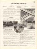 Inland Steel Company 1938 Vintage Catalog Floor Plate Bars 4-Way