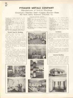 Pyramid Metals Company 1938 Vintage Catalog Wall Mouldings Snap-On