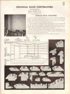 Colonial Sales Corp 1938 Vintage Catalog Cosalco Metal Cover Mouldings