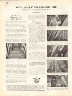 Alfol Insulation Company 1938 Vintage Catalog Aluminum Foil Insulate