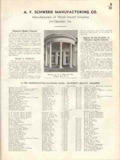 A F Schwerd Mfg Company 1938 Vintage Catalog Wood Staved Columns