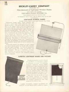 Beckley-Cardy Company 1938 Vintage Catalog Window Shades Sightsaver