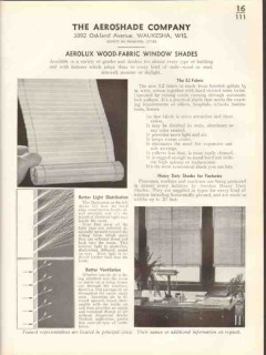 Aeroshade Company 1938 Vintage Catalog Window Shades Wood Fabric E2