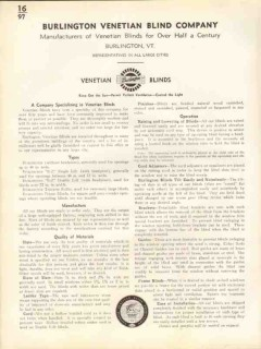 Burlington Venetian Blind Company 1938 Vintage Catalog Manufacturers
