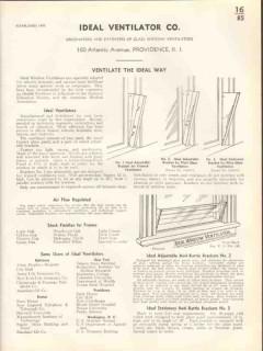 Ideal Ventilator Company 1938 Vintage Catalog Window Glass Ventilation