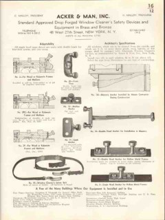 acker man inc 1938 window cleaner safety device anchor vintage catalog