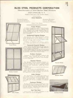 Bliss Steel Products Corp 1938 Vintage Catalog Windows Solid Section