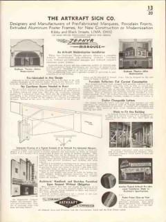 Artkraft Sign Company 1938 Vintage Catalog Marquee Zephyr Prefabricate