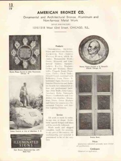 American Bronze Company 1938 Vintage Catalog Ornamental Architectural
