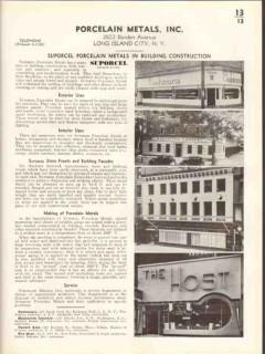Porcelain Metals Inc 1938 Vintage Catalog Store Fronts Facade Suporcel