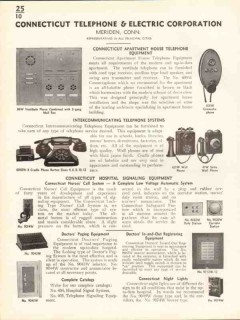Connecticut Telephone Electric Corp 1938 Vintage Catalog Intercom