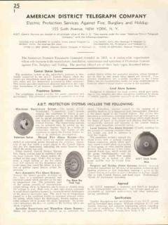 American District Telegraph Company 1938 Vintage Catalog ADT Protect