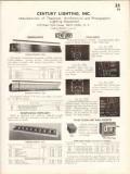 Century Lighting Inc 1938 Vintage Catalog Theatrical Borderlight Equip