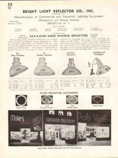 Bright Light Reflector Company 1938 Vintage Catalog Show Window