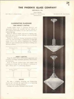 Phoenix Glass Company 1938 Vintage Catalog Lighting Illuminating