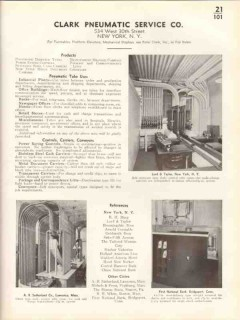Clark Pneumatic Service Company 1938 Vintage Catalog Dispatch Tubes