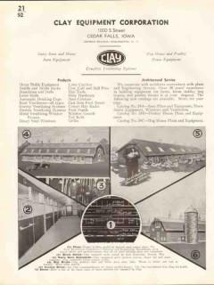 Clay Equipment Corp 1938 Vintage Catalog Ventilating Systems Farm Barn