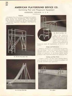 American Playground Device Company 1938 Vintage Catalog Swimming Pool