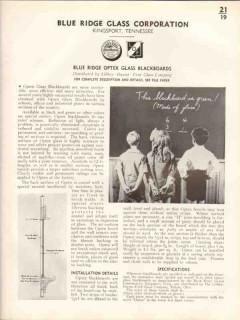 Blue Ridge Glass Corp 1938 Vintage Catalog Optex Blackboards