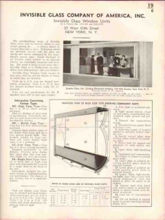 Invisible Glass Company 1938 Vintage Catalog Window Units Display