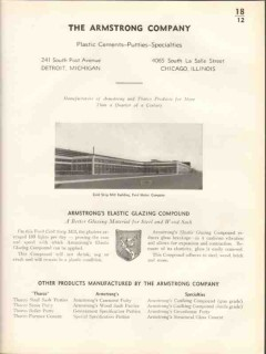 Armstrong Company 1938 Vintage Catalog Window Elastic Glazing Compound