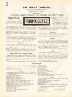 Purma Company 1938 Vintage Catalog Floors Purma-Glaze Terrazzo Cement