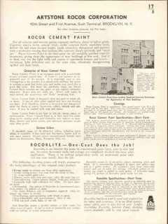 Artstone Rocor Corp 1938 Vintage Catalog Paint Cement Stucco Rocolite