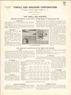 Tirrill Gas Machine Corp 1938 Vintage Catalog Generate Deliver Supply