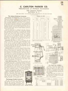 C Carlton Parker Company 1938 Vintage Catalog Amherst Incinerators
